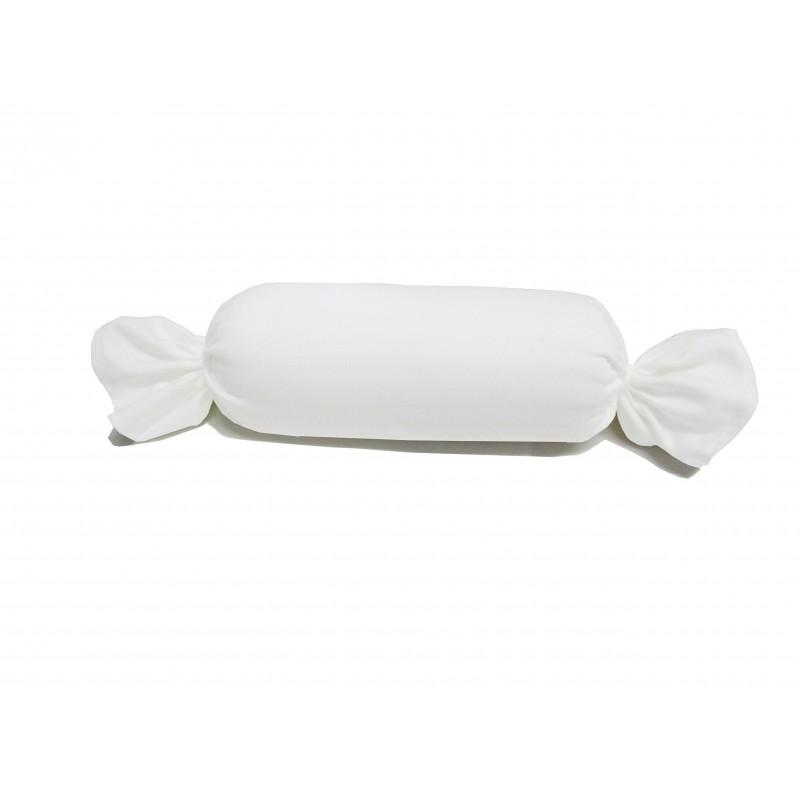 Bezug Nackenrolle 15x40 cm - Farbe: Weiß
