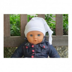 Babymütze/Erstlingsmütze - Farbe: Weiß
