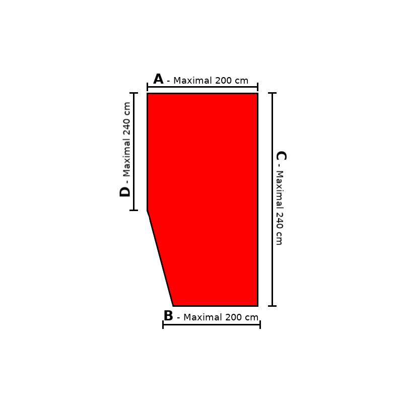 Sondermaß Spannbettlaken Ecke links - Doppel-Jersey 100% Baumwolle