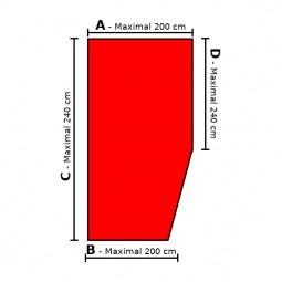 Sondermaß Spannbettlaken Ecke rechts – Doppel-Jersey 100% Baumwolle