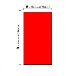 Sondermaß Spannbettlaken gerade Fläche – Doppel-Jersey 100% Baumwolle